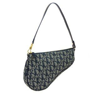 Christian Dior Trotter Pattern Saddle Hand Bag Pou